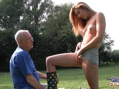 Hot blonde cleaned and fucked by old man videos