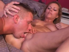 Licking a lovely milf with nice natural tits videos