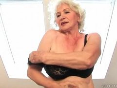 Granny strips from dress to rub her pussy movies at kilotop.com