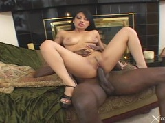 Asian rides black cock and gobbles that knob tubes at thai.sgirls.net