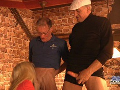 Two foreign old dicks for a horny blonde videos