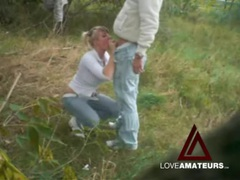 Jeans and white leather boots on girl fucking outdoors videos
