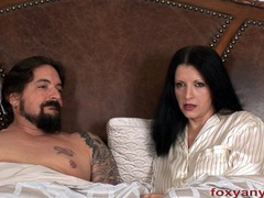 Foxy anya blows cock cum shot on hair movies at lingerie-mania.com