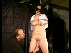 Dildo fucks pierced pussy of a tied up girl movies at reflexxx.net