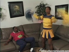 Dick sucked by a cute black cheerleader videos