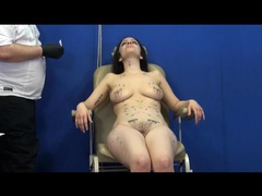 Brunette is wild for needle pain play videos