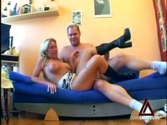 Busty blonde cocksucker in boots fucked hardcore movies at kilotop.com