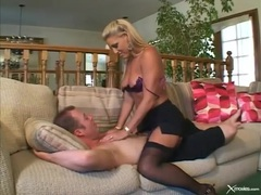 Milf double penetration in her sexy stockings videos