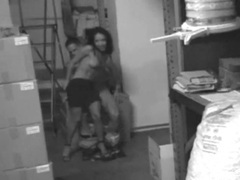 Warehouse sex with a skinny babe videos