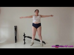 Fat girl works out hard and looks good videos
