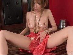 Big shiny japanese tits on this solo beauty tubes at japanese.sgirls.net