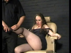Stripping a fat girl naked in bdsm video videos