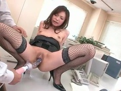 Dildo play with the cute japanese secretary videos