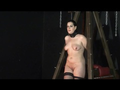 Chubby girl in collar and boots is bound videos