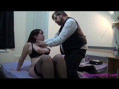 He disciplines a fat girl with cane videos