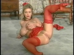 Sexy red lingerie on a fake titties blonde girl movies at kilotop.com