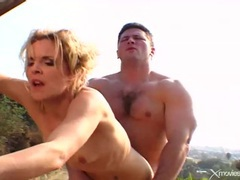 Horny wife on the farm fucked by a muscular guy videos
