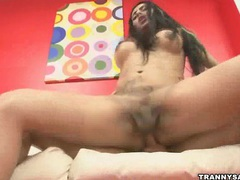 Brazilian tranny babe sucks cock and gets fucked movies at kilotop.com