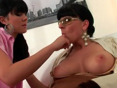 Lesbian milf strips her lover to pink satin lingerie movies at kilotop.com