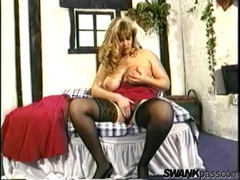 Fat gal rubs her pussy and sucks her tits videos