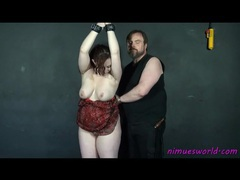 Bound fat girl stripped and smacked by her man videos