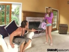 Her spit soaked blowjob makes a mess movies at kilopills.com