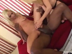Black monster cock fucks a pair of white bitches tubes