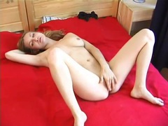 Her natural tits are hot during masturbation video videos
