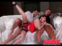 Threesome scene with lingerie girl fucked lustily tubes