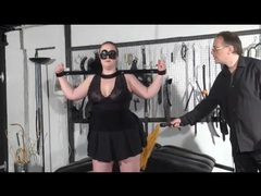Bbw in bondage gets flogged on her fat ass videos