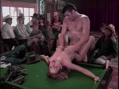 Hardcore sex in the cowboy bar with an audience movies at lingerie-mania.com
