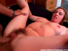 He cums in dark pubic hair of a milf videos