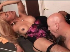 Tranny milf in lingerie and boots anally fucked movies