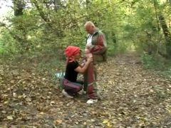 Fat old lady fucked hardcore in the woods movies at lingerie-mania.com