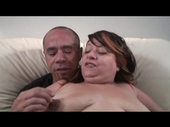 Fat old babe sucks on his thick cock movies at sgirls.net