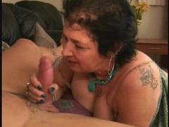 Granny sucks a dong and takes a facial movies at find-best-panties.com
