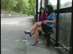 Enjoy hot lesbians in sexy stilettos walking in your fetish movies at find-best-mature.com