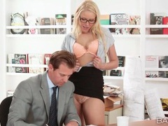 Secretary vanessa cage blows her boss tubes