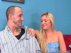 Teen in short blue dress gives a blowjob movies at sgirls.net