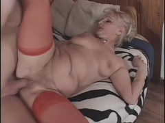 Mature sex scene ends in a big facial videos