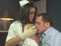 Nurse in latex gloves gives handjob and fucks movies at kilopics.net