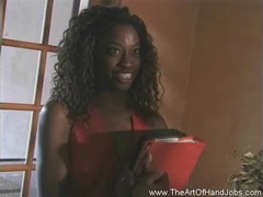 Ebony student handjob movies at kilosex.com