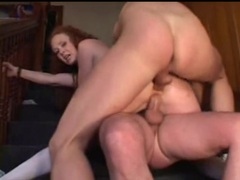Double penetration of audrey hollander ends in facials movies at find-best-babes.com