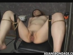 Japanese slave gets pussy filled by cum tubes at japanese.sgirls.net