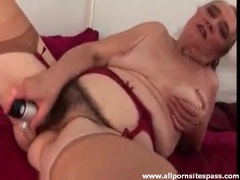 Hairy fat granny fucks cunt with her pussy videos