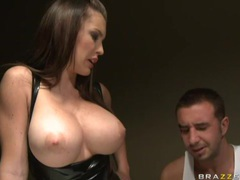 Enchanted by her big tits and fucking the latex slut videos