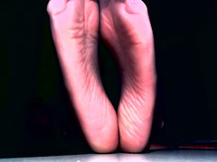 Sexy feet tease with sheer toes and wrinkled soles movies at lingerie-mania.com