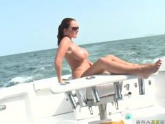 Sex on the deck of the boat with sophie dee tubes