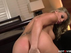 Blonde pornstar gets ass fucked with hotgvibe videos