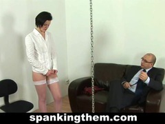 Hard spanking for lazy secretary movies
